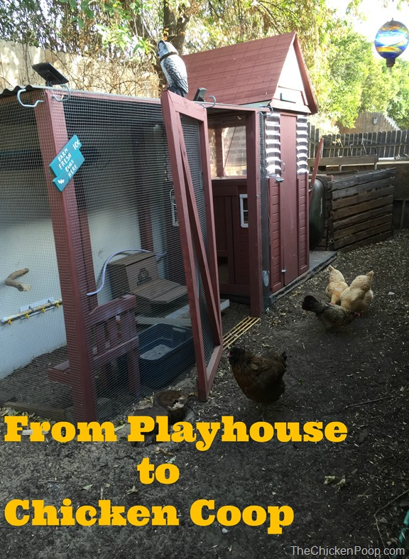 From Playhouse to Chicken Coop