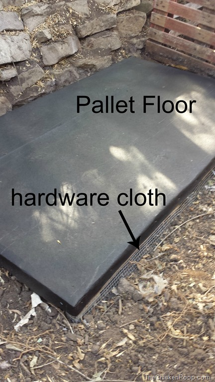Pallet Floor with vinyl and hardware cloth