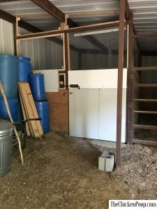 New Chicken Coop in the Barn
